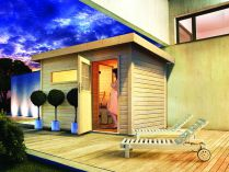 Venkovní finská sauna - Saunový domek Karibu Skrollan 2 - 38 mm