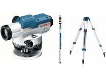 Bosch GOL 20 D Professional nivelační optický přístroj, kufr + stativ + měřicí lať