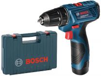 Zobrazit detail - Bosch GSR 120-LI Professional - 2x 12V/1.5Ah, 0.99kg, kufr, aku vrtačka bez příklepu