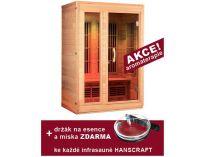 Infrasauna pro 2 osoby Hanscraft CONSTANCE plus + podlahový zářič 80W