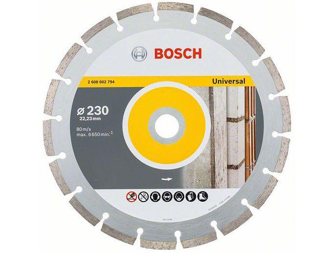 Univerzální diamantový kotouč Bosch Standard for Universal 230 x 22,23 x 2,3 x 10 mm (Akční výběhový model, kód 2608602794) Bosch Professional