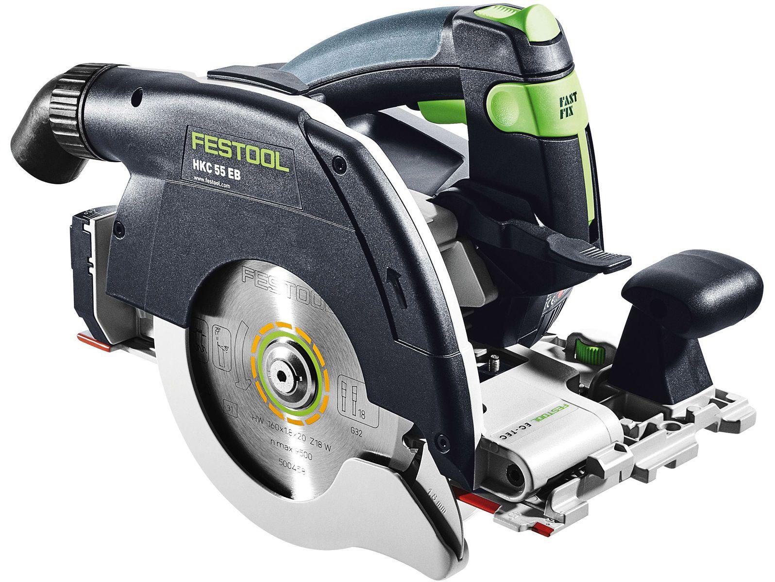 Aku okružní kotoučová pila Festool HKC 55 Li 5,2 EB-Plus, 160mm, 2x aku 18V/5.2Ah, 4.1kg, kufr SYS 4 T-LOC, kód: 201360