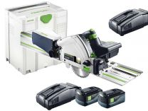 Festool TSC 55 Li 5,2 REB-Set/XL-FS - 2x 18V/5.2Ah, 160mm, Systainer, aku ponorná pila + lišta