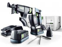 Festool DWC 18-2500 Li 5,2-Plus - 2x 18V/5.2Ah, 2500ot/min., aku šroubovák se zásobníkem, Systainer