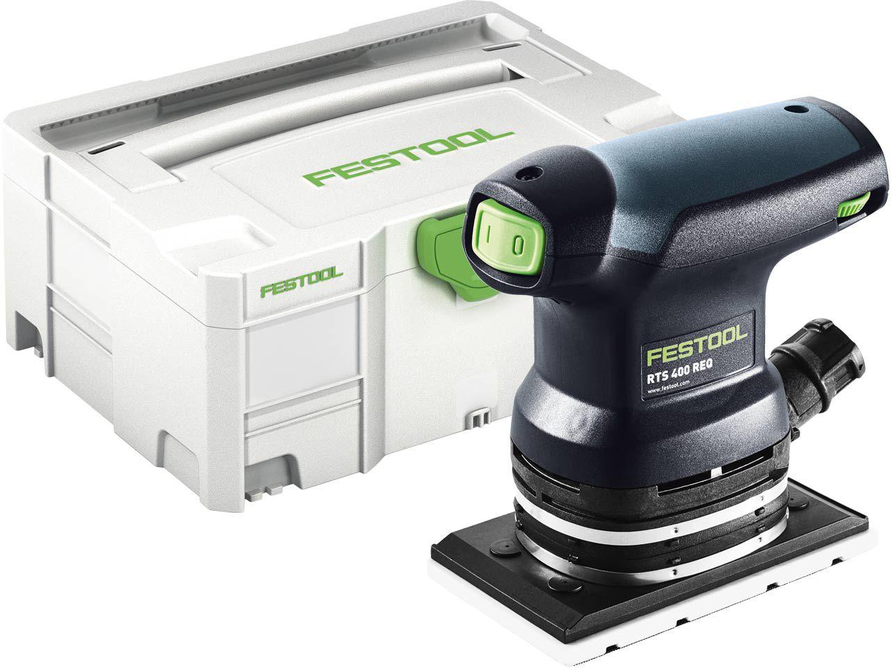 Festool RTS 400 REQ-Plus vibrační bruska, elektronika MMC, 250W, 80x130mm, 1.2kg, v Systaineru SYS 2 T-LOC (574634)
