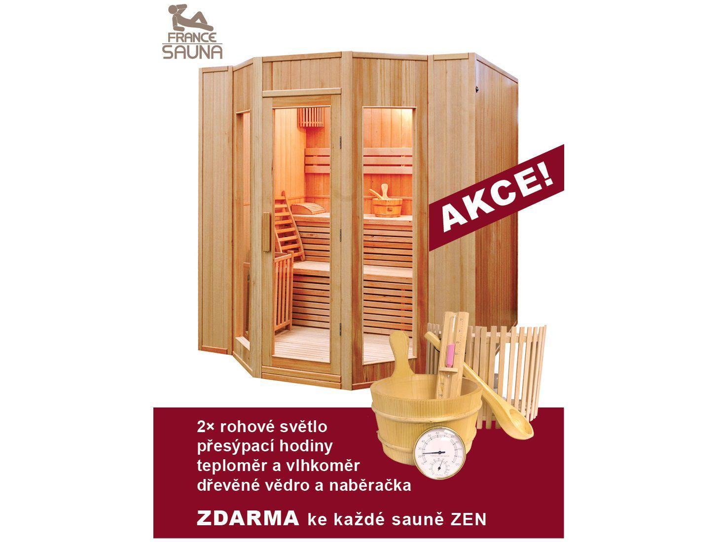 Hanscraft Zen 5 finská sauna pro 5 osob + Doprava a dárek ZDARMA (FRANCE SAUNA Zen 5)