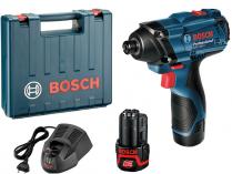 Bosch GDR 120-LI Professional - 2x 12V/1.5Ah, 100Nm, 1.05kg, aku rázový utahovák, kufr