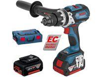 Bosch GSB 18 VE-EC Professional - 2x 18V/4.0Ah, 75Nm, L-Boxx, bezuhlíková aku vrtačka s příklepem