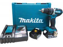 Makita DHP484RFE - 2x 18V/3.0Ah Li-Ion, 1.6kg, kufr, aku vrtačka s příklepem