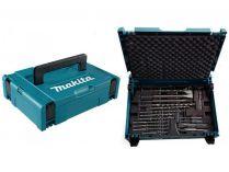 Makita B-53877: 17 dílná sada vrtáků a sekáčů do kladiv SDS-Plus v kufru Systainer Makpac