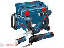 Sada aku nářadí Bosch 5 ToolKit 10,8V-LI (GSR+GOP+GSA+GLI+GML)