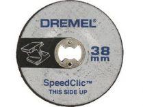 2ks Brusný kotouč na sklolaminát SpeedClic Dremel SC541 - 38 mm