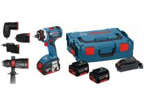 Bosch GSR 14,4 V-EC FC2 Professional - 2x 14.4/4.0Ah, 46Nm, kufr L-BOXX 136, bezuhlíková aku vrtačka