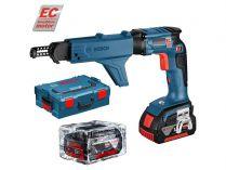 Bosch GSR 18 V-EC TE Professional - aku šroubovák na sádrokarton + Zásobník Bosch MA 55, kufr L-BOXX