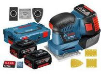 Aku vibrační bruska Bosch GSS 18V-10 Professional - 2x 18V/5.0Ah, 1.7kg, kufr L-BOXX 136