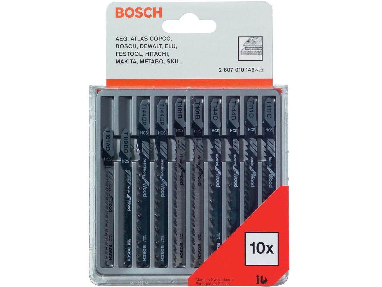 Bosch Sada 10 ks pilových plátků do kmitací pily na DŘEVO s T stopkou Bosch příslušenství