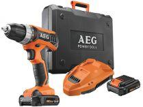 AEG BS 14 G3 Li-202C - 2x 14.4V/2.0Ah, 32Nm, 1.7kg, kufr, aku vrtačka bez příklepu