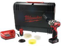 Aku leštička Milwaukee M12 BPS-421X - 1x 12V/2.0Ah + 1x 12V/4.0Ah, 1.0kg, 76mm, kufr