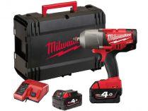 "Milwaukee M18CHIWF34-502X - 2x 18V/5.0Ah, 3/4"" , 3.3kg, kufr, aku rázový utahovák"