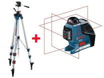 Křížový laser Bosch GLL 3-80 P Professional křížový laser + Stavební stativ BT 250 Professional