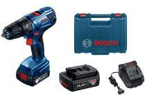 Bosch GSB 140-LI Professional - 2x 14.4V/1.5Ah, 50Nm, kufr, aku vrtačka s příklepem