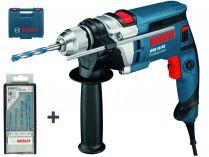 Příklepová vrtačka Bosch GSB 16 RE (OV) Professional - 750W, 2.2kg, kufr + dárek