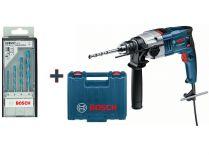 Příklepová vrtačka Bosch GSB 18-2 RE (OV) Professional - 800W, 2rychl., 2.6kg, kufr + dárek
