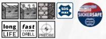 Bosch čtyřbřitý vrták do kladiv SDS-Max-7, 32x400/520mm, 5ks (2608587743) Bosch příslušenství
