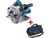 Kotoučová pila Bosch GKS 600 Professional - 1200W, 165mm, 3.6kg, mafl + dárek