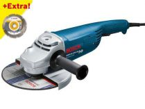Úhlová bruska Bosch GWS 24-230 JH Professional - 2400W, 230mm, 5.2kg + dárek