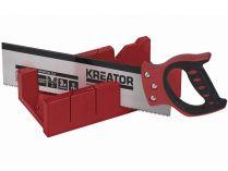 Čepovací pila + BOX Kreator KRT809001  - 350mm, kalené zuby