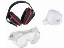 Ochranná sada Kreator KRTS60001 - sluchátka, brýle, respirátor