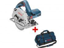 Kotoučová pila Bosch GKS 165 Professional - 1100W, 165mm, 3.6kg, mafl + dárek