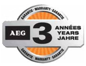 3 letá záruka AEG