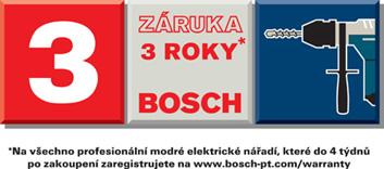 3 letá záruka Bosch